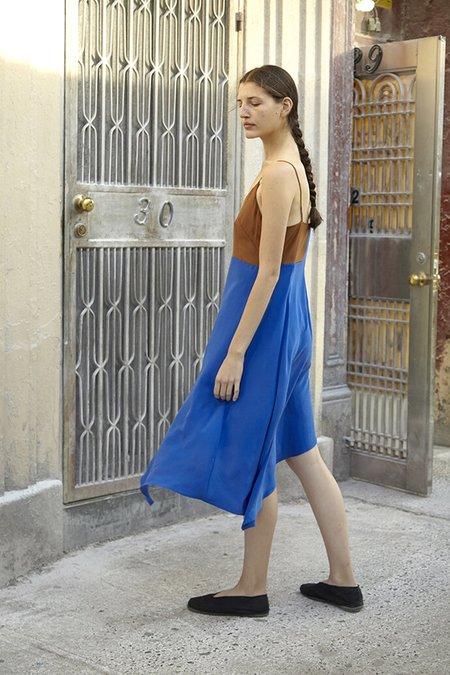 Correll Correll Silk Flocco Cami Dress - Cobalt