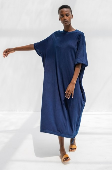 Cosmic Wonder Organic Cotton T-shirt Dress - Indigo