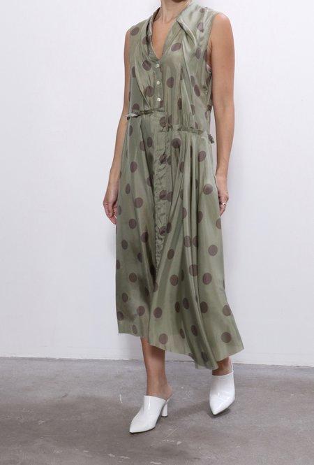 Jejia Silk Dress - Green