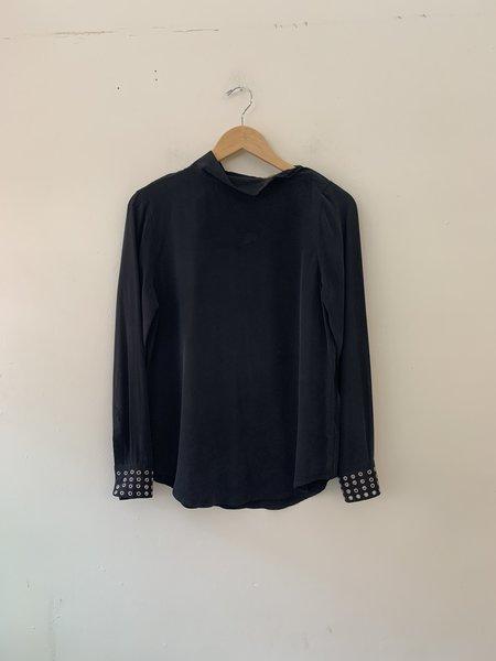 [pre-loved] Equipment Silk Embellished Blouse - Washed Grey