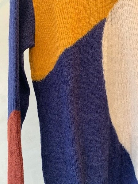 Aymara Felice Sweater - Curcuma/Navy/Air