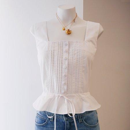 BATSHEVA Amy Cotton Top - White