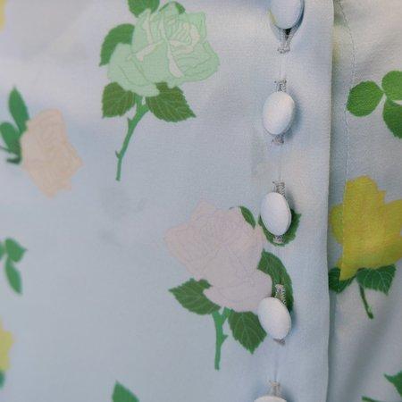BERNADETTE Kelly Skirt Satin Stretch Rose Skirt - Multi/Blue