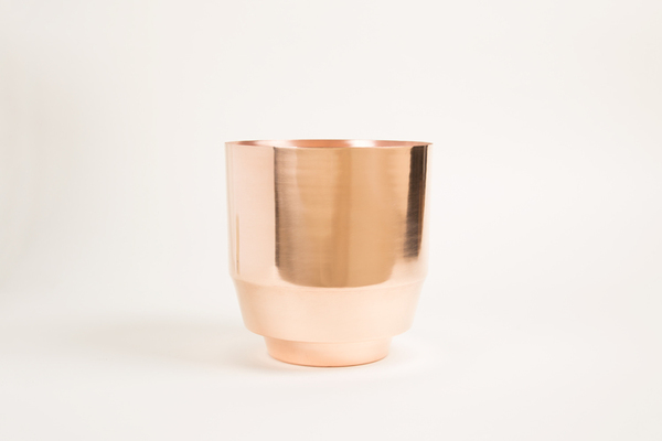 YIELD DESIGN COPPER SPUN PLANTER