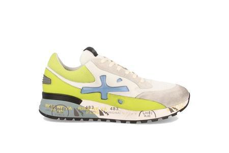 Premiata Django Sneaker - White/Lime