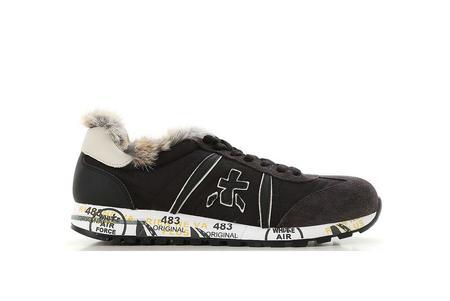 Premiata Lucy Fur Lining Sneaker - Black
