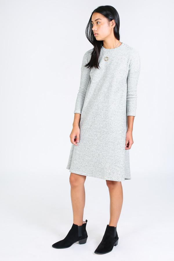 Ursa Minor Fallon dress in oatmeal stripe