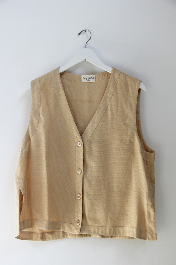 Hey Jude Natural Woven Vest