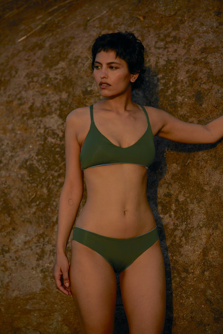 The Summer House Ara Bottom - Forest Green/Sky Blue