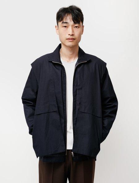Camiel Fortgens Research Layered Cotton Jacket - Dark Blue