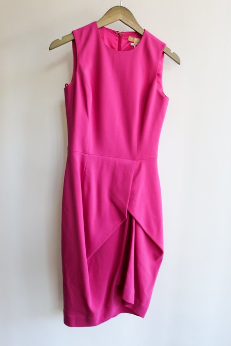 [pre-loved] Michael Kors Midi Dress - Bright Pink