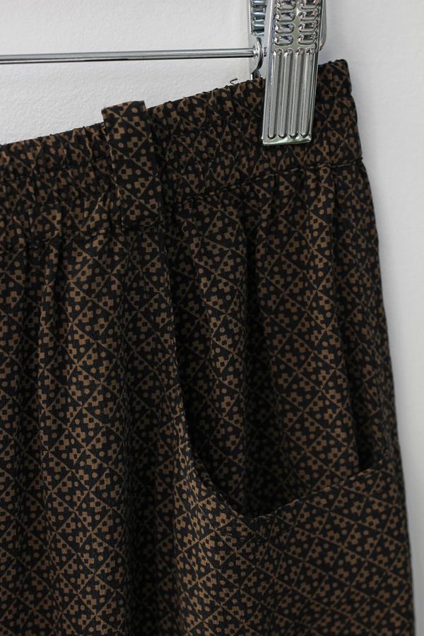 Hey Jude Vintage 70's Print Silk Trouser