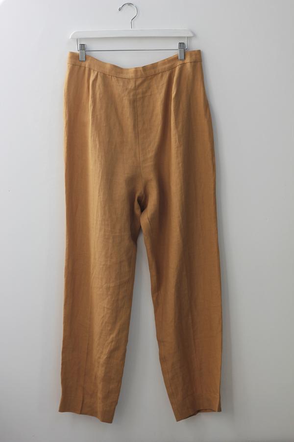 Hey Jude Vintage Caramel Linen Trousers
