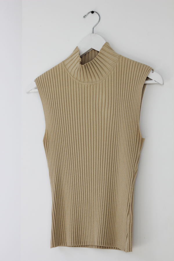 Hey Jude Vintage Nude Ribbed Top
