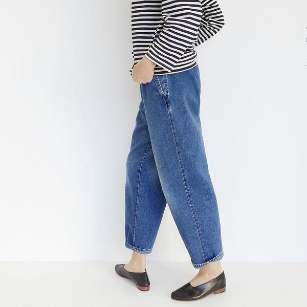 Johan Vintage Pleated Denim Pant