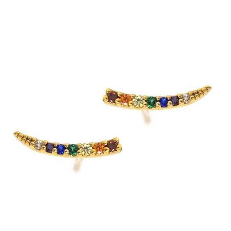 Tai Rainbow Slice Stud - Gold