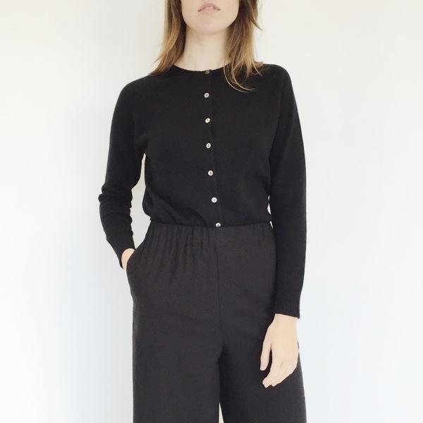 Johan Vintage Black Cashmere Cardigan