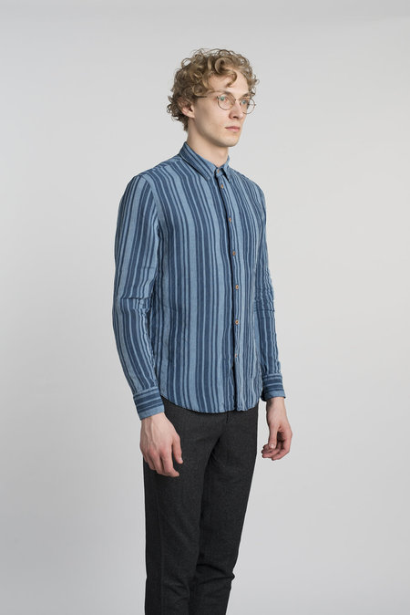 Delikatessen Feel Good Cotton Shirt - Navy Stripe