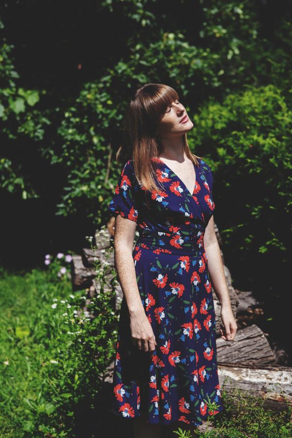 Darling Cerys Dress (Navy + Burnt Orange)