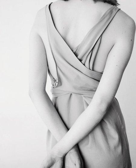 Shaina Mote Tie Dress - pale citron