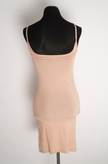 Baserange Slip Dress in Bamboo Jersey - Nude