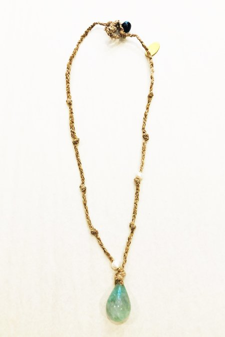 Forte Forte Beaded Silk/Fluorite Necklace