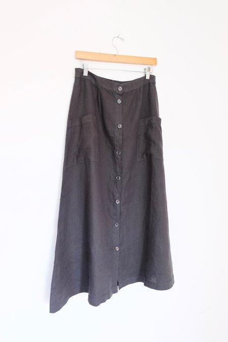 Filosofia Lily Button Down Skirt - Ink