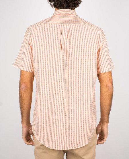 Portuguese Flannel Cabin Shirt - Vintage Red Stripe