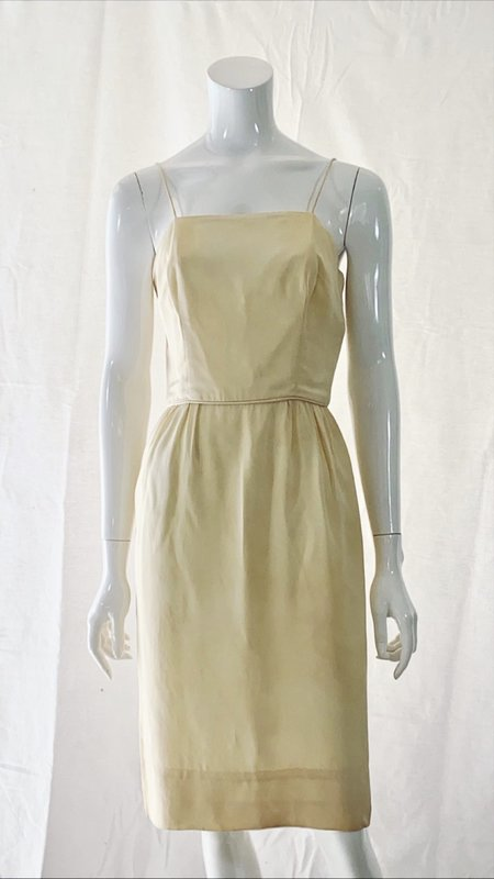 Vintage Late 50s/Early 60s Silk Wiggle Dress