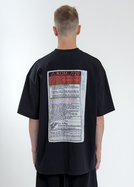 Komakino Loose Fit T-Shirt - Black