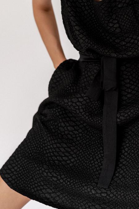 Primary New York Reptile Zipper Dress - Black