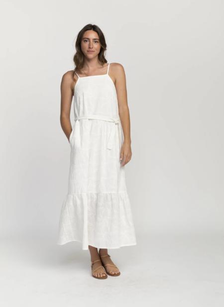 trovata cecile square neck with embroidery dress