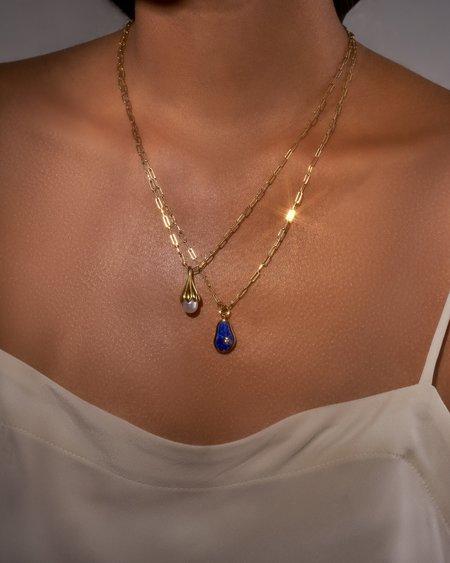 Pamela Love Anemone Pearl Pendant - Sterling Silver