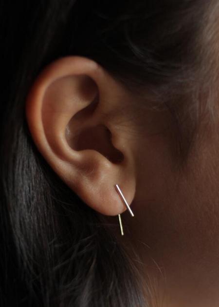 Futaba Hayashi Clock Needle Ear Hooks - Gold
