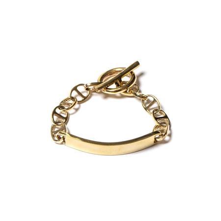 Maple ID Bracelet - Brass