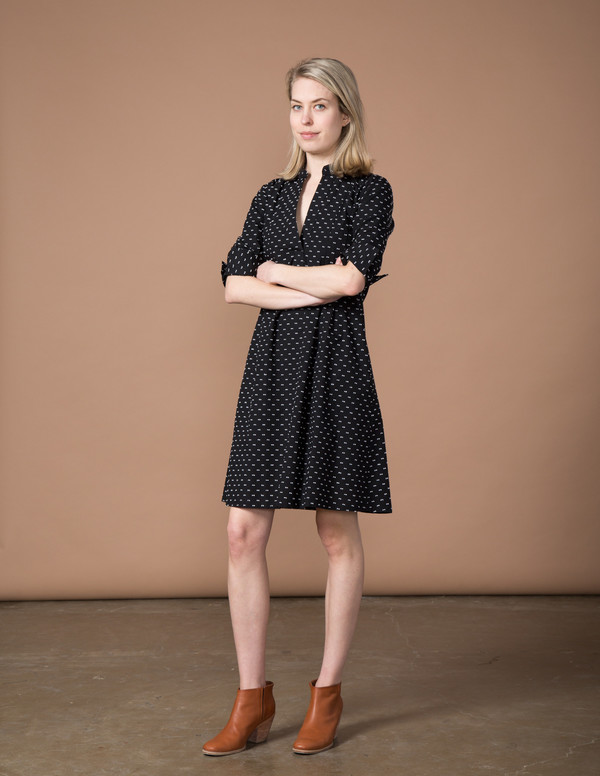 SBJ Austin Ellen Dress - Black Swiss Dot