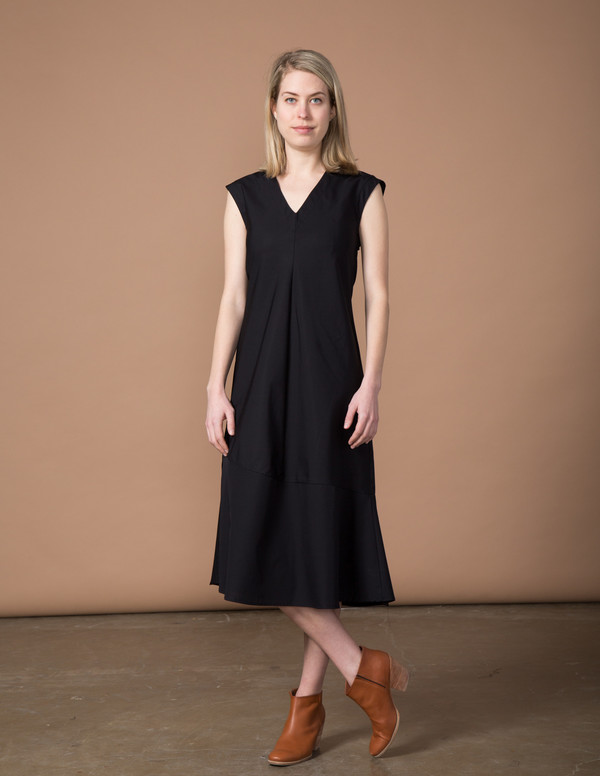 SBJ Austin Winny Dress - Black Poplin