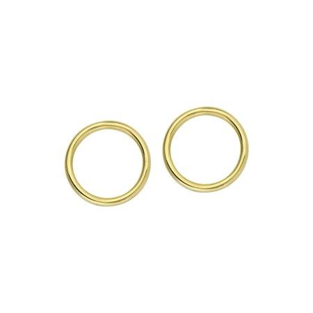Hestia Jewels Embrace Circle Earrings - 14k Gold