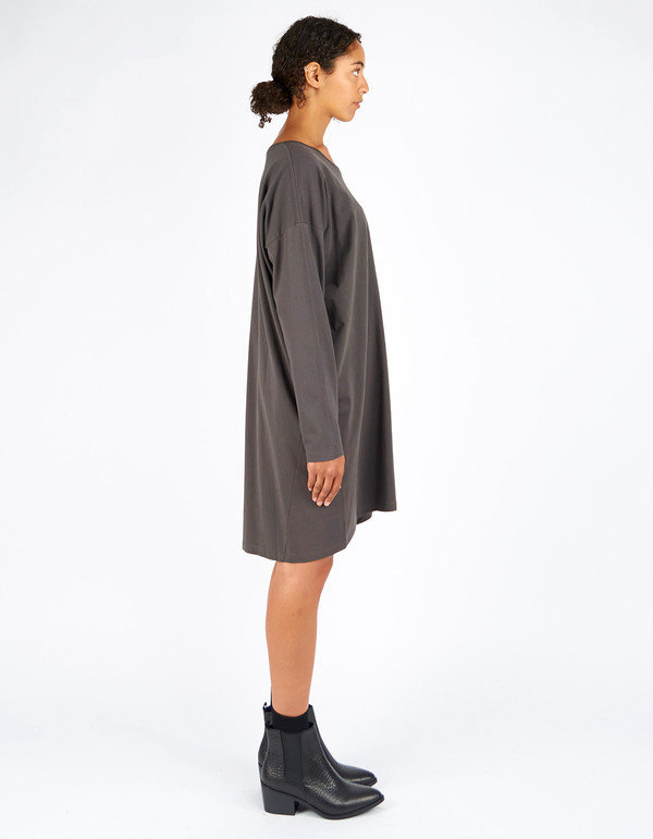 Kowtow Building Block Relaxed Tee Dress Charcoal