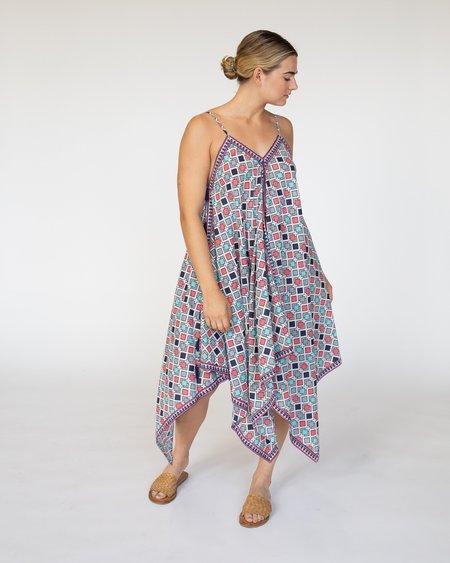 RUJUTA SHETH Handkerchief Cover Up Dress - Summer Sun Geo