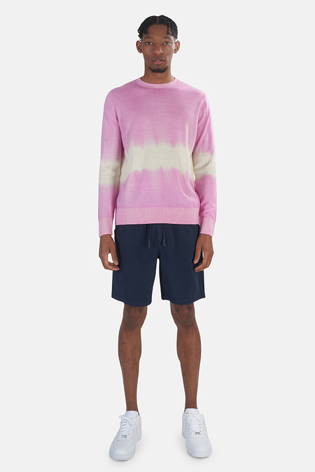 President's Wool Cashmere Sweater - Pink/White stripe