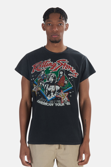 MadeWorn Rock Rolling Stones Sold Out '81 T-Shirt - Black