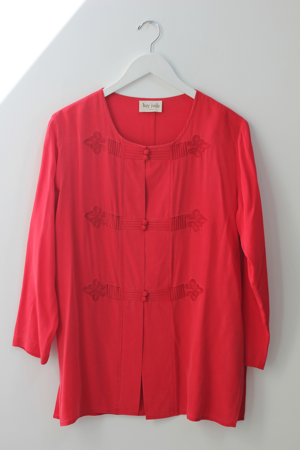 Hey Jude Vintage Brushed Silk Tunic