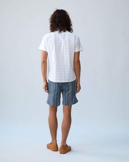 Corridor Dobby Handblock Draw String Shorts - Grey