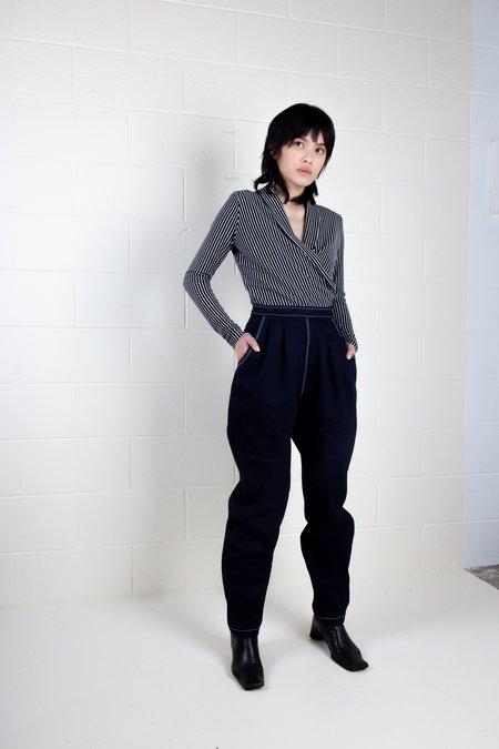 Rachel Mills Adrienne Striped Jersey Top