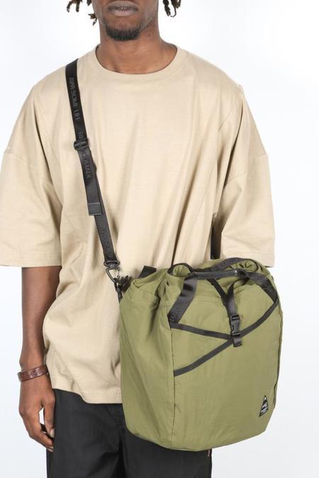 BELLWOODMADE LARGE SHOULDER BAG - ARMY GREEN