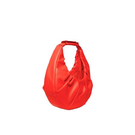 Staud Soft Moon Bag - Hawaiian Red