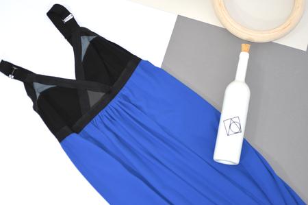 VPL Convexity Breaker Maxi Dress: Royal Blue