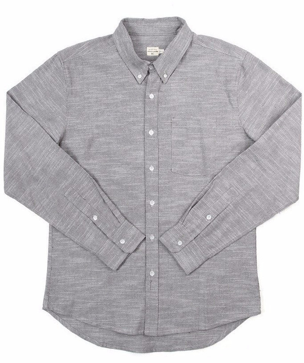 Men's Bridge & Burn Fulton Shirt / Grey Slub
