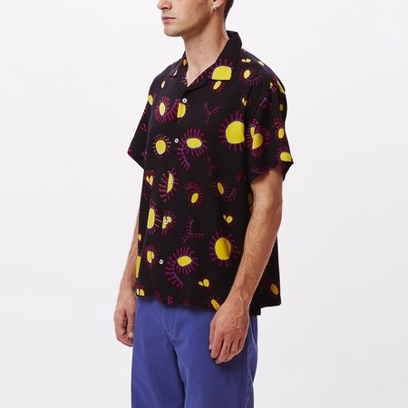 Obey Duster Woven Short Sleeve Shirt - Black